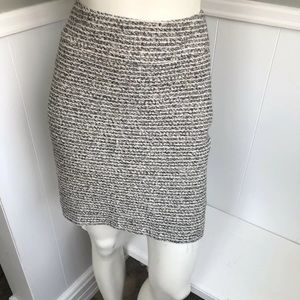 Banana Republic Tweed Mini Skirt 10 Grey Career